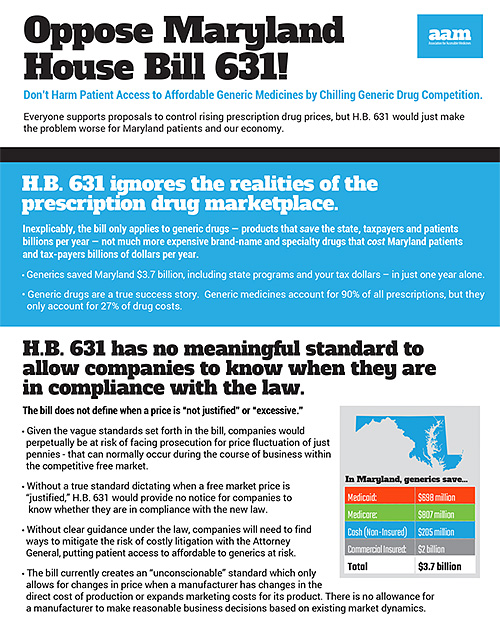 MD Oppose House Bill 631
