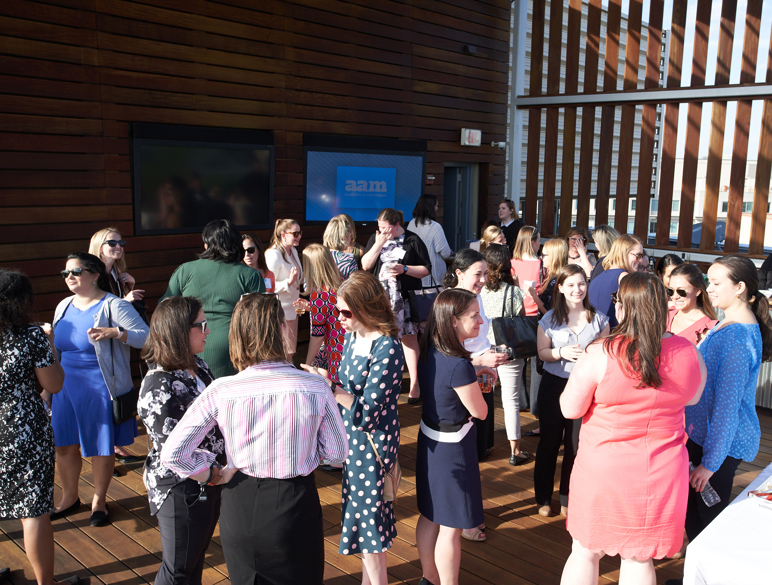 Women in Health Policy networking at the May 2019 rooftop event