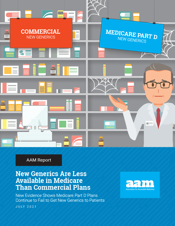 AAM Report: New Generics Are Less Available in Medicare Than Commercial Plans