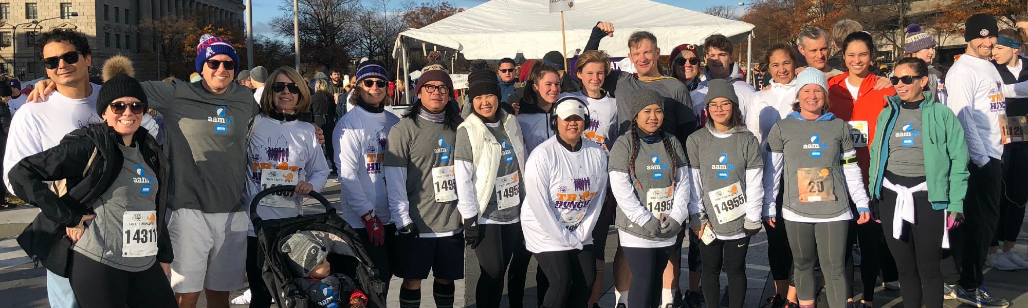 AAM employees and family members joined more than 2,000 walkers and runners at Freedom Plaza on Thanksgiving for the So Others Might Eat (SOME) annual Trot for Hunger.