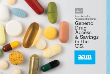 2017 Generic Drug Access and Savings Report Cover