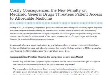 CPI - Medicaid Generics Penalty - Issue Brief
