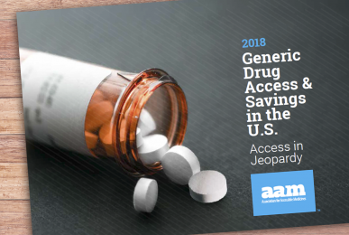 2018 Generic Drug Access and Savings Report Cover