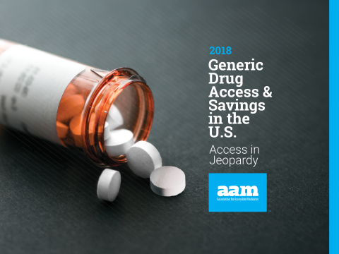 2018 AAM Generic Drug Access and Savings Report Cover